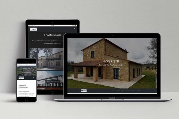 MacBook, ipad e iphone con sito responsive